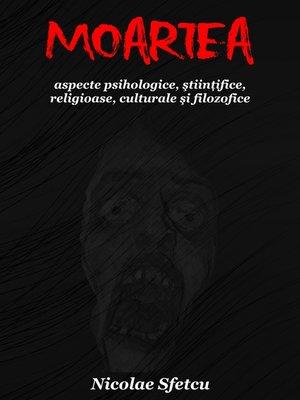 cover image of Moartea