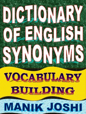 cover image of Dictionary of English Synonyms