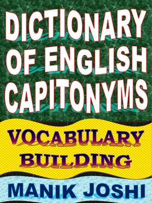 cover image of Dictionary of English Capitonyms
