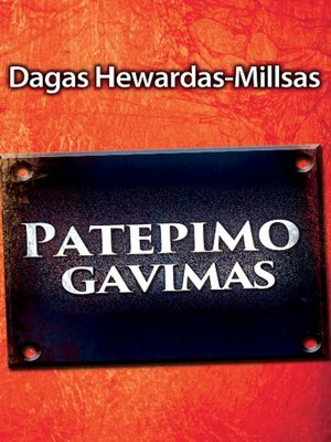 cover image of Patepimo gavimas