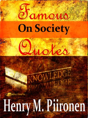 cover image of Famous Quotes on Society