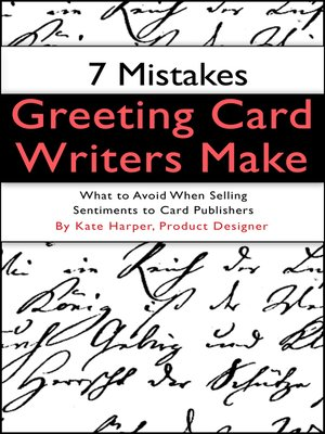 7 mistakes greeting card writers make by kate harper overdrive cover image m4hsunfo