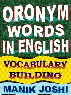 cover image of Oronym Words in English