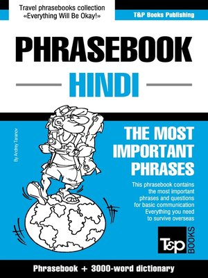 cover image of English-Hindi phrasebook and 3000-word topical vocabulary