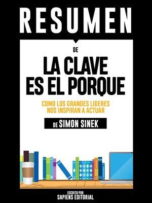 cover image of La Clave Es El Porque