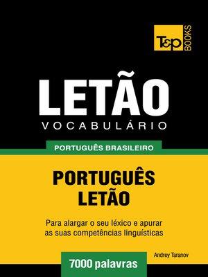cover image of Vocabulário Português Brasileiro-Letão