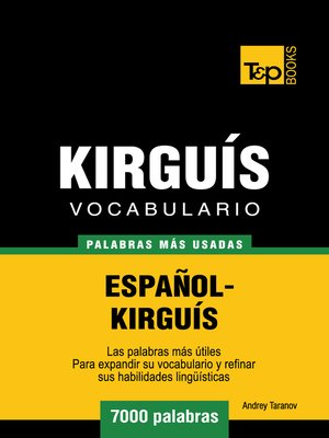 cover image of Vocabulario Español-Kirguís