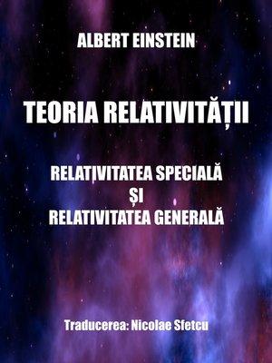 cover image of Teoria relativității