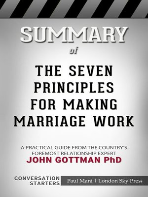cover image of Summary of the Seven Principles for Making Marriage Work