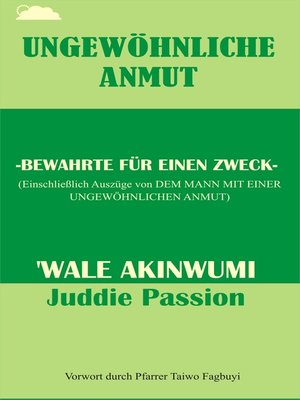 cover image of Ungewöhnliche Anmut