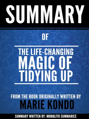 cover image of The Life-Changing Magic of Tidying Up