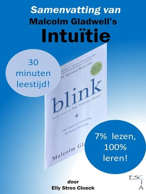 cover image of Samenvatting van Malcolm Gladwell's Intuïtie