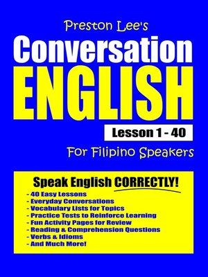 cover image of Preston Lee's Conversation English For Filipino Speakers Lesson 1