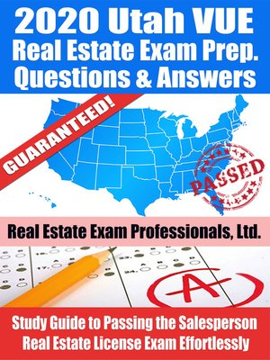 cover image of 2020 Utah VUE Real Estate Exam Prep Questions & Answers