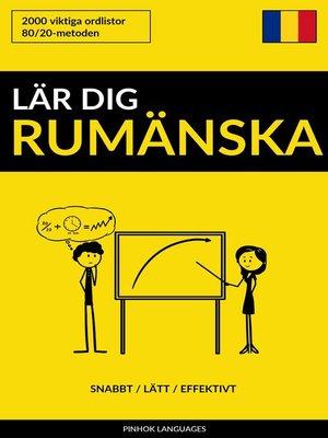 cover image of Lär dig Rumänska