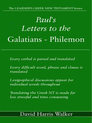 cover image of Paul's Letters to the Galatians