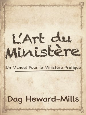 cover image of L'art du ministère