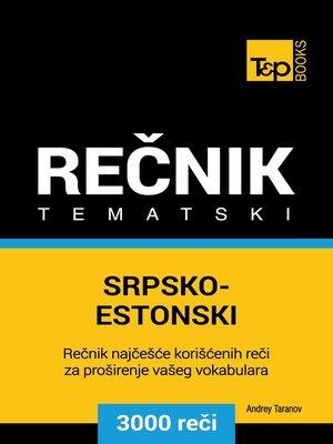 cover image of Srpsko-Estonski tematski rečnik