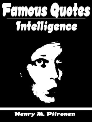 cover image of Famous Quotes on Intelligence