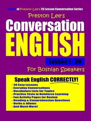 cover image of Preston Lee's Conversation English For Bosnian Speakers Lesson 1