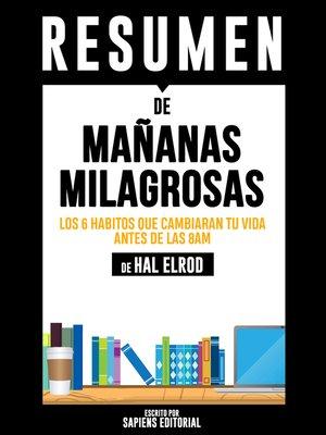 cover image of Mañanas Milagrosas