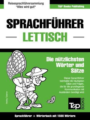 cover image of Sprachführer Deutsch-Lettisch und Kompaktwörterbuch mit 1500 Wörtern