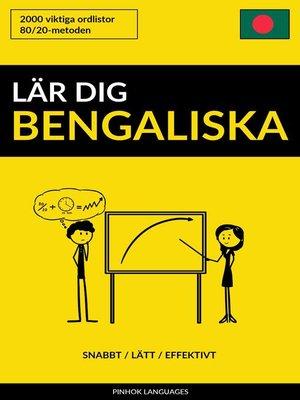 cover image of Lär dig Bengaliska