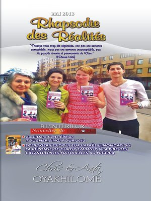 cover image of Rhapsody of Realities May 2013 French Edition