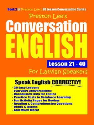 cover image of Preston Lee's Conversation English For Latvian Speakers Lesson 21