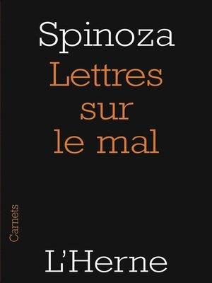 cover image of Lettres sur le mal