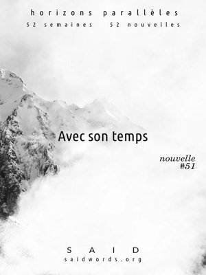 cover image of Avec son temps