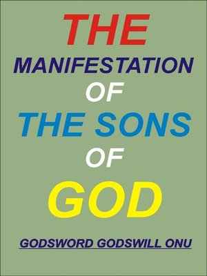 cover image of The Manifestation of the Sons of God