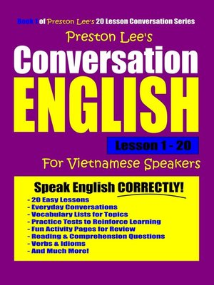 cover image of Preston Lee's Conversation English For Vietnamese Speakers Lesson 1