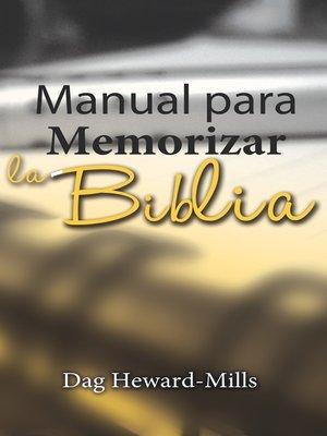cover image of Manual Para Memorizar La Biblia