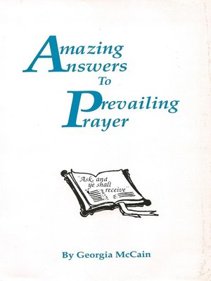 cover image of Amazing Answers to Prevailing Prayer