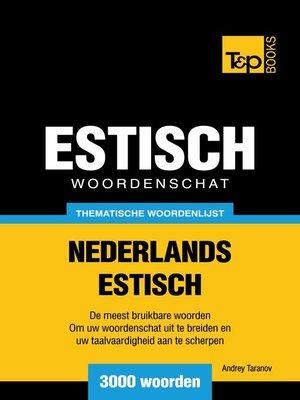 cover image of Thematische woordenschat Nederlands-Estisch