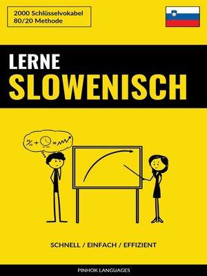 cover image of Lerne Slowenisch