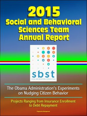 cover image of 2015 Social and Behavioral Sciences Team Annual Report