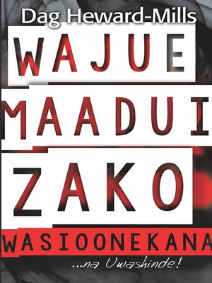 cover image of Wajue Maadui Zako Wasioonekana...