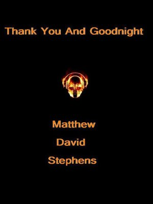 cover image of Thank You and Goodnight