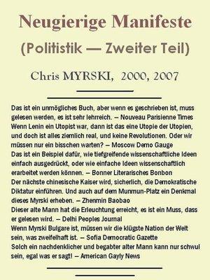 cover image of Neugierige Manifeste (Politistik — Zweiter Teil)