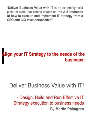 cover image of Align Your IT Strategy to the Needs of the Business