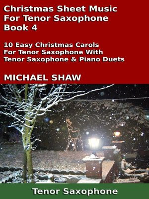 cover image of Christmas Sheet Music For Tenor Saxophone