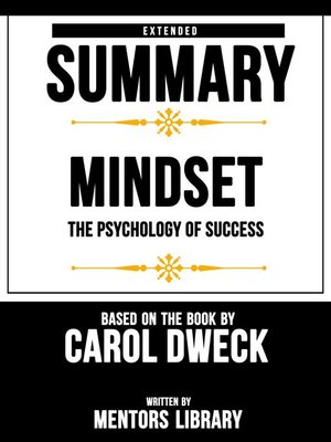 cover image of Extended Summary / Mindset