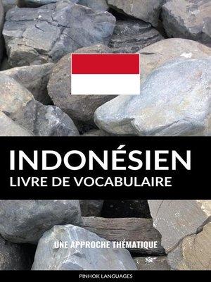 cover image of Livre de vocabulaire indonésien