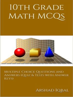cover image of 10th Grade Math Multiple Choice Questions and Answers (MCQs)