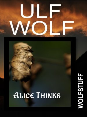 cover image of Alice Thinks