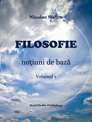 cover image of Filosofie