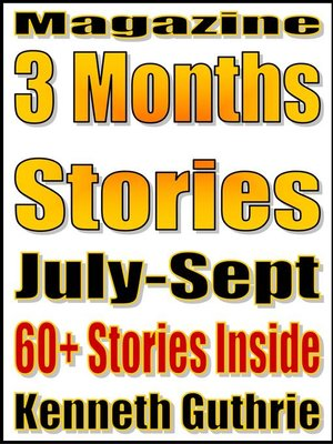 cover image of 3 Months' Short Stories (July-Sept. 2011)