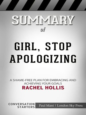 cover image of Summary of Girl, Stop Apologizing